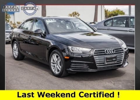 Certified Pre-Owned 2017 Audi A4 2.0T